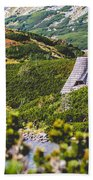Mountain Lake In 5 Lakes Valley In Tatra Mountains, Poland. Bath Towel