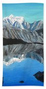Mountains Landscape Acrylic Painting Bath Towel