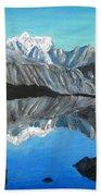 Mountains Landscape Acrylic Painting Bath Towel