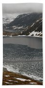 Mt. Dalsnibba And The Serpentine Descent To The Geirangerfjord Hand Towel