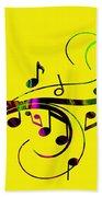Music Flows Collection Bath Towel