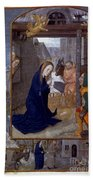 Nativity With Shepherds Bath Towel