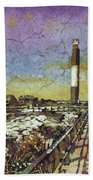 Oak Island Lighthouse Bath Towel