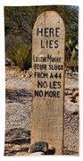 Old Tucson Graveyard Bath Towel