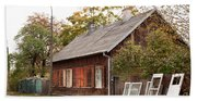 Old Wooden House With Tar Bath Towel
