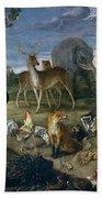 Orpheus And Animals Bath Towel