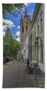 Oude Kerk In Delft Bath Towel