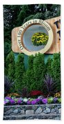 Over 100 Yrs In Bloom, Historic Garden Icon, The Butchart Gardens. Bath Towel