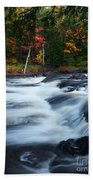 Oxtongue River Ontario Autumn Scenery Bath Towel
