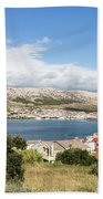 Pag Old Town In Croatia Bath Towel