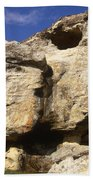 Painted Rock Bath Towel