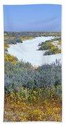 Panoramic View Of White Salt And Desert Bath Towel