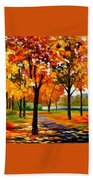 Park By The River Bath Towel