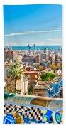 Park Guell Barcelona Bath Towel