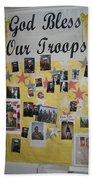 Patriotic Collage St. Helen Of The Cross Catholic Church Eloy Arizona 2004 Bath Towel