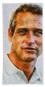 Paul Newman, Vintage Hollywood Actor Bath Towel