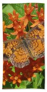 Pearly Crescentspot Butterfly Bath Towel