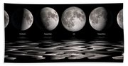 Phases Of The Moon Bath Towel