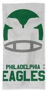 Philadelphia Eagles Vintage Art Bath Towel