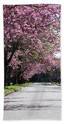 Pink Blooming Trees Hand Towel