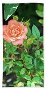 Pink Rose In The Garden Bath Towel