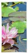 Pink Water Lily Series Bath Towel