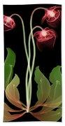 Pitcher Plant Flowers, X-ray Bath Towel