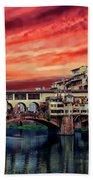 Ponte Vecchio Bridge Bath Towel