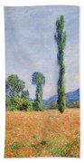 Poppy Field In Giverny  Bath Towel