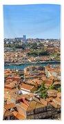 Porto Skyline Portugal Bath Towel
