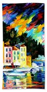 Portofino Harbor - Italy Bath Towel
