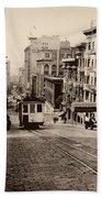 Powell Street Hill - San Francisco 1945 Bath Towel