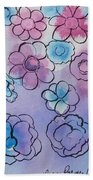 Purple Explosion Bath Towel