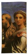 Raphael St Cecilia With Sts Paul John Evangelists Augustine And Mary Magdalene  Bath Towel