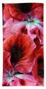 Red Floral Bath Towel