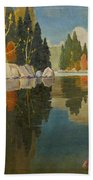 Reflective Lake Bath Towel