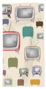 retro TV pattern  Bath Towel by Setsiri Silapasuwanchai