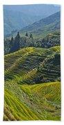 Rice Terraces In Guilin, China  Bath Towel