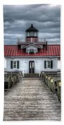 Roanoke Marshes Lighthouse, Manteo, North Carolina Bath Towel