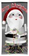 Robo-x9 Wishes A Merry Christmas Bath Towel