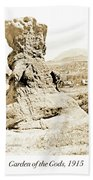 Rock Formation, Garden Of The Gods, 1915, Vintage Photograph Bath Towel