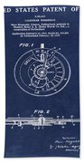 Rolex Watch Patent 1999 In Blue Hand Towel