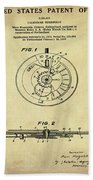 Rolex Watch Patent 1999 In Sepia Hand Towel