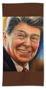 Ronald Reagan Portrait Bath Towel
