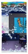 Rooftop Saltwater Fish Tank Art Bath Towel
