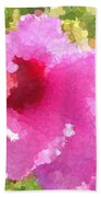Rose Of Sharon In Abstract Bath Towel
