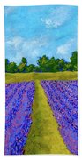 Rows Of Lavender In Provence Bath Towel