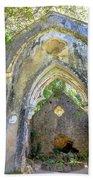 Ruins Of Chapel Sintra Bath Towel