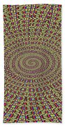 Saguaro Forest Abstract Bath Towel