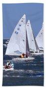 Sailboat Championship Racing Bath Towel